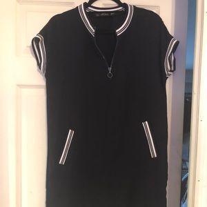 ZARA dark navy dress